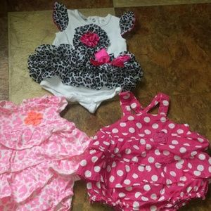 girls 3month, 3 outfits